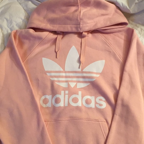 8cac629d0cd43 adidas Tops - Vapour Pink Adidas Trefoil Hoodie